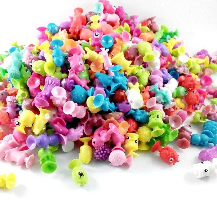 25-200Pcs Minifigure lidl Action figure sucker toy Stikeez Kids Toys Mini Capsule Children Gift Sent Random