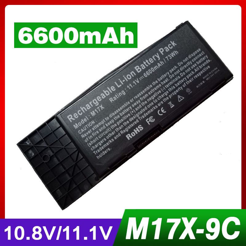 Apexway 6600mAh 9 cell Laptop Battery For DELL BTYVOY1 For Alienware M17X R3 R4 MX 17xR3 MX 17xR4 318-0397 451-11817 7XC9N C0C5M 69wh genuine laptop battery for dell alienware 14 a14 m14x r3 r4 g05yj 0g05yj y3pn0 8x70t alw14d 5528 alw14d 1528 alw14d 4528