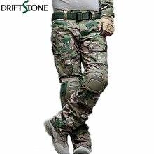 Камуфляжные военные тактические брюки, армейская форма, брюки для страйкбола, пейнтбола, боевые брюки карго с наколенниками
