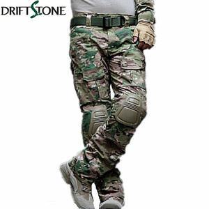 Image 1 - Camouflage Military Tactical Pants Army Military Uniform Trousers Airsoft Paintball Combat Cargo Pants With Knee Pads