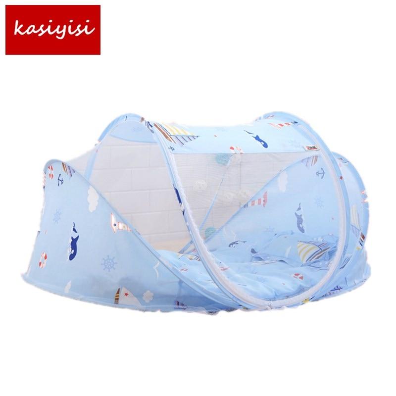 Высокое качество детские, для малышей раскладная кровать москитная сетка чистая кровать с матрасом подушка мультфильм