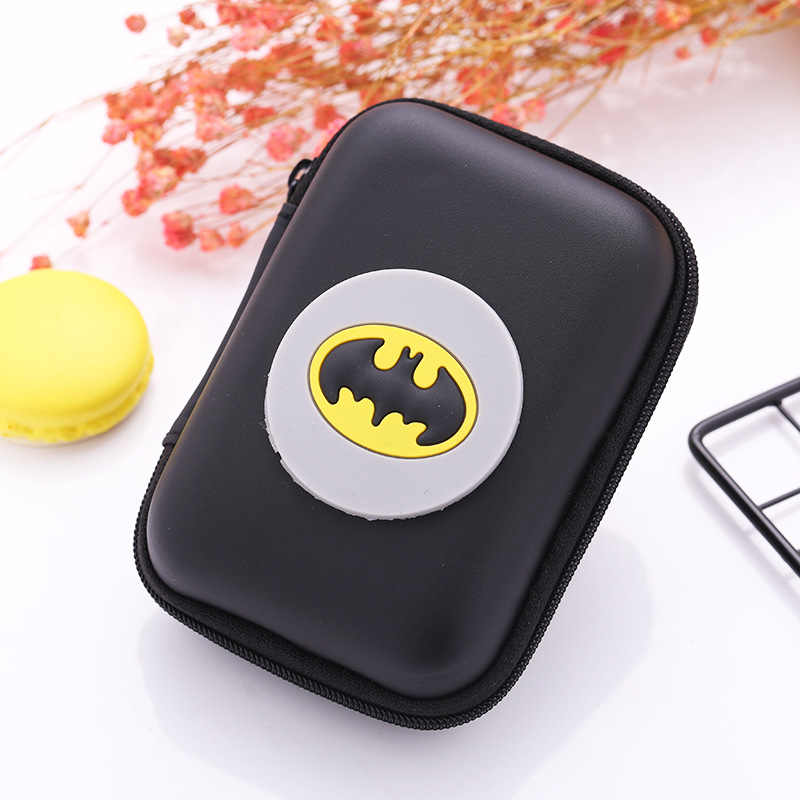 2018 New Silicone Coin Purse Wallet Pouch Case Batman Patterns Clutch Key Wallets Change Card Bag Bat-men Hero Anime Coin Purse
