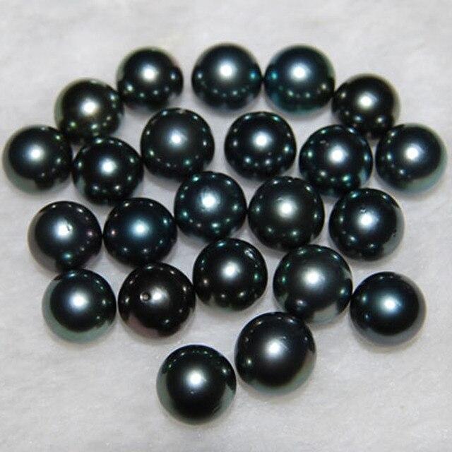9 10 мм aaa натуральный круглый черный морской tahitian жемчужный