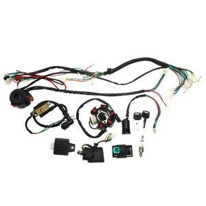 Image 5 - 1 zestaw w całości z kompletna elektryka kable w wiązce CDI stojana 6 cewki dla motocykli ATV Quad pitbike Buggy gokart 90cc 110cc 125cc