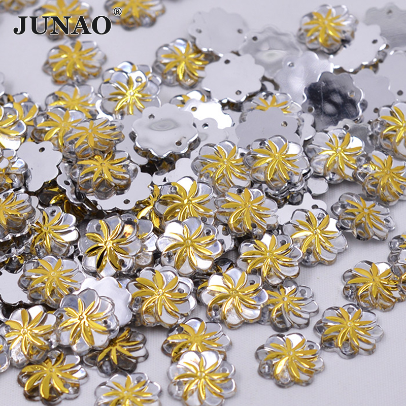 Acrylic Flower Flatback Embellishments Rhinestones Gems Deco Craft 10mm OR 15mm