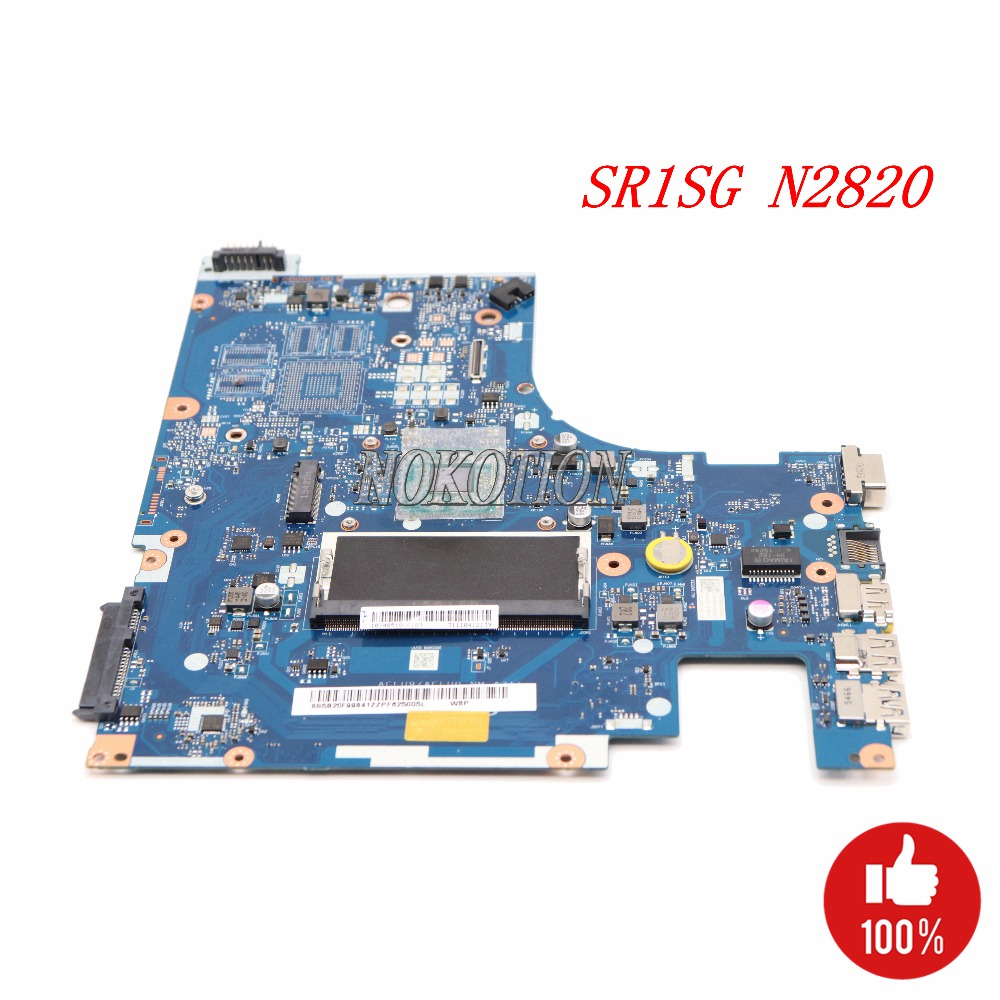 NOKOTION ACLU9 ACLU0 NM-A311 Laptop Motherboard For lenovo Ideapad G50-30 Main Board SR1SG N2820 CPU DDR3L full tested nokotion aclu9 aclu0 nm a311 laptop motherboard for lenovo ideapad g50 30 sr1w4 n2830 cpu main board works