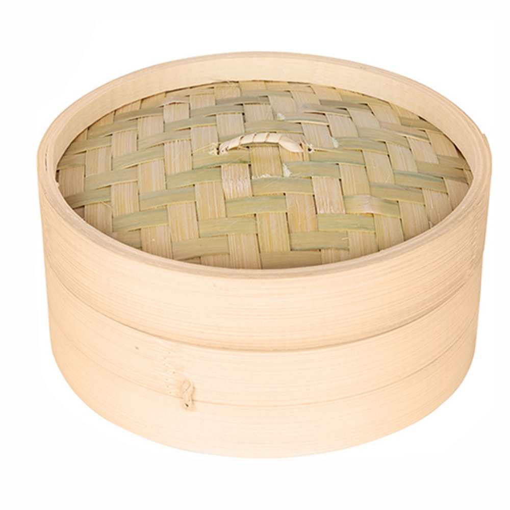 One Cage And One Cover Cooking Bamboo Steamer Fish Rice Vegetable Snack Basket Set Kitchen Cooking Tools