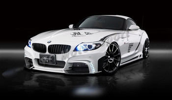 FRP Fiber Glass + Carbon Fiber Bodykits Fit For 2009-2013 Z4 E89 RW White Wolf Edition Style Bumper Side Skirts Car-styling