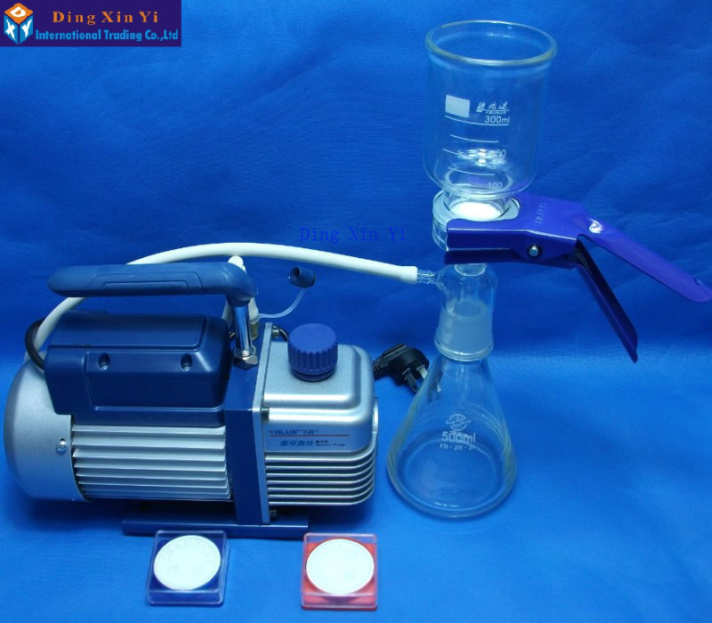 500 ml filtro de membrana + bomba de vacío + filtrado membrana, de Ultra bajo costo Aparato de filtración al vacío