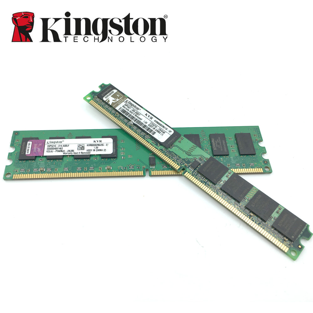 Kingston Desktop Pc Memory Ram Memoria Module Ddr2 667 Pc2 5300 2gb 64 Bit Computer On The Recognition Of Win 7 64bit Is Around 8 16gb