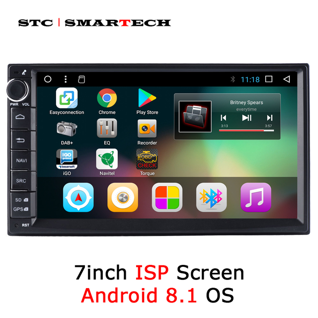 SMARTECH Universal 2din Android 8.1 Car Radio GPS Navigation Autoradio System 7 inch IPS Screen Support Video Output DVR OBD DAB