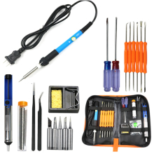 Honsene 60W Adjustable Temperature Electric Soldering Iron Kit+Adjustable Temperature Welding Iron, 5pcs Tips, Desoldering Pump