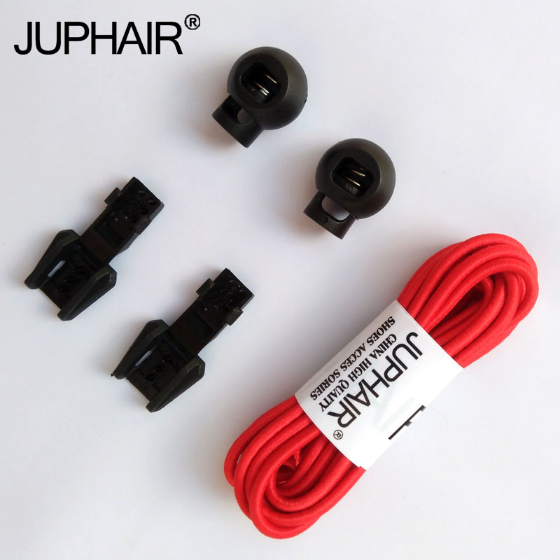 JUP 1-50 Pairs Women Red Sport of Lock No Laces Unique Hole Locks Laces Lace No Elastic Tie Lace With Lock Custom Lock Shoelaces