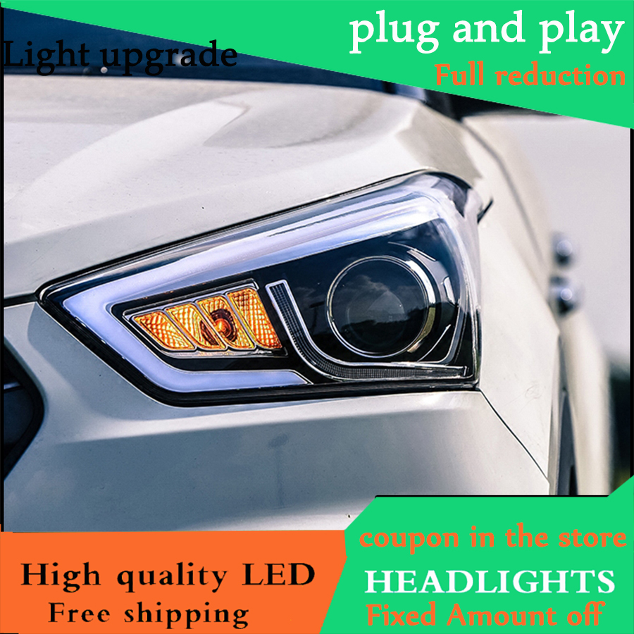 Car Styling Head Lamp Case For Hyundai Creta IX25 2015 2017 Headlights LED Daytime Running Light