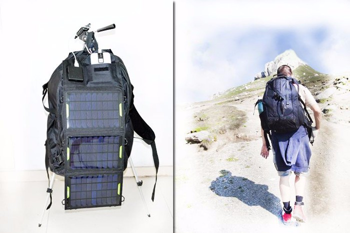 Outdoor hiking solar panel