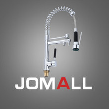 kitchen brass single handle pull-out pull down sink mixer hot and cold tap modern design