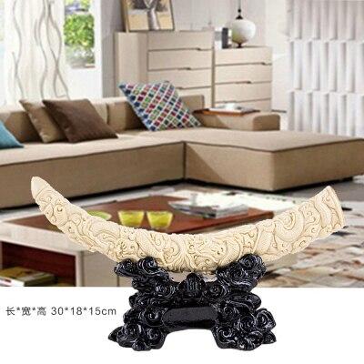 Accesorios de decoración para el hogar estante de sala de estar chino adornos de marfil artesanías gabinete de TV de vino Oficina suave habitación hogar - 2