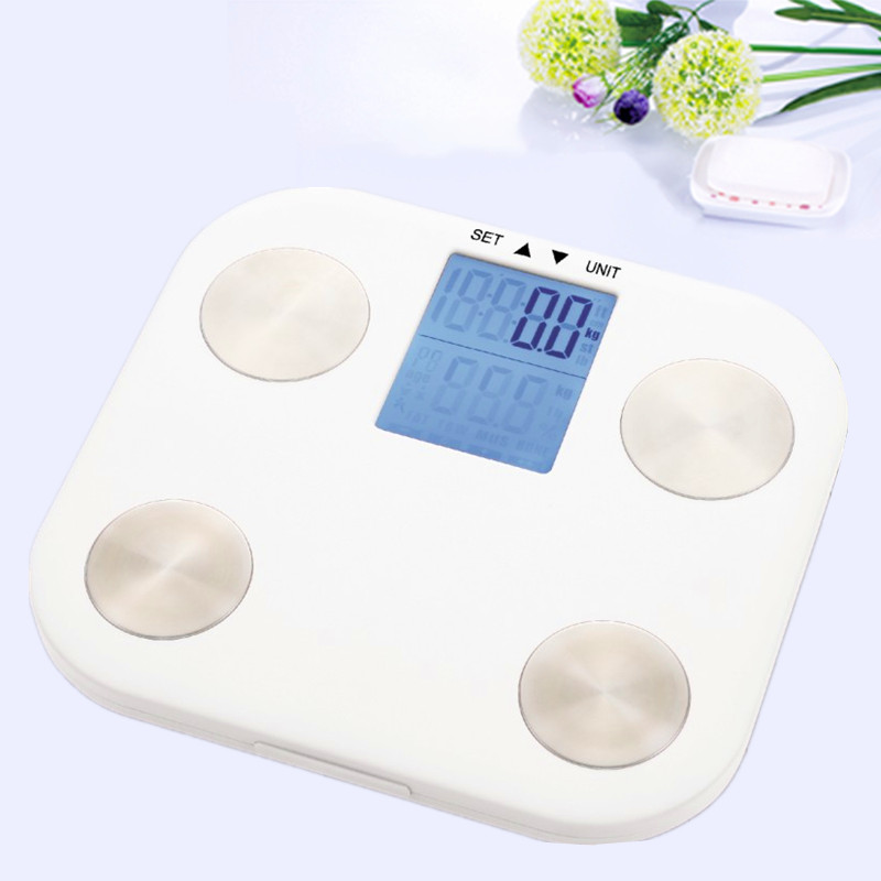 Hot Digital Body Weight Scale Bathroom Mi Weegschaal Electronic FLOOR SCALES HD LCD Screen Does Not Need Bluetooth 7 Body Index
