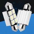 10 pcs 36mm C5W 6 SMD 5050 LED Branco/Azul CANBUS Livre de Erros luzes Da Placa de Licença Lâmpada de Leitura Festão Cúpula Lâmpada porta do carro luz