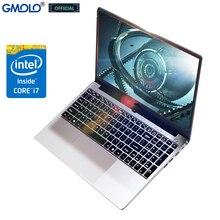 GMOLO 15.6 metal core I7 laptop 16GB/ 8GB RAM 256GB SSD + optional 1TB Backlit KB 15.6inch HD gaming notebook computer