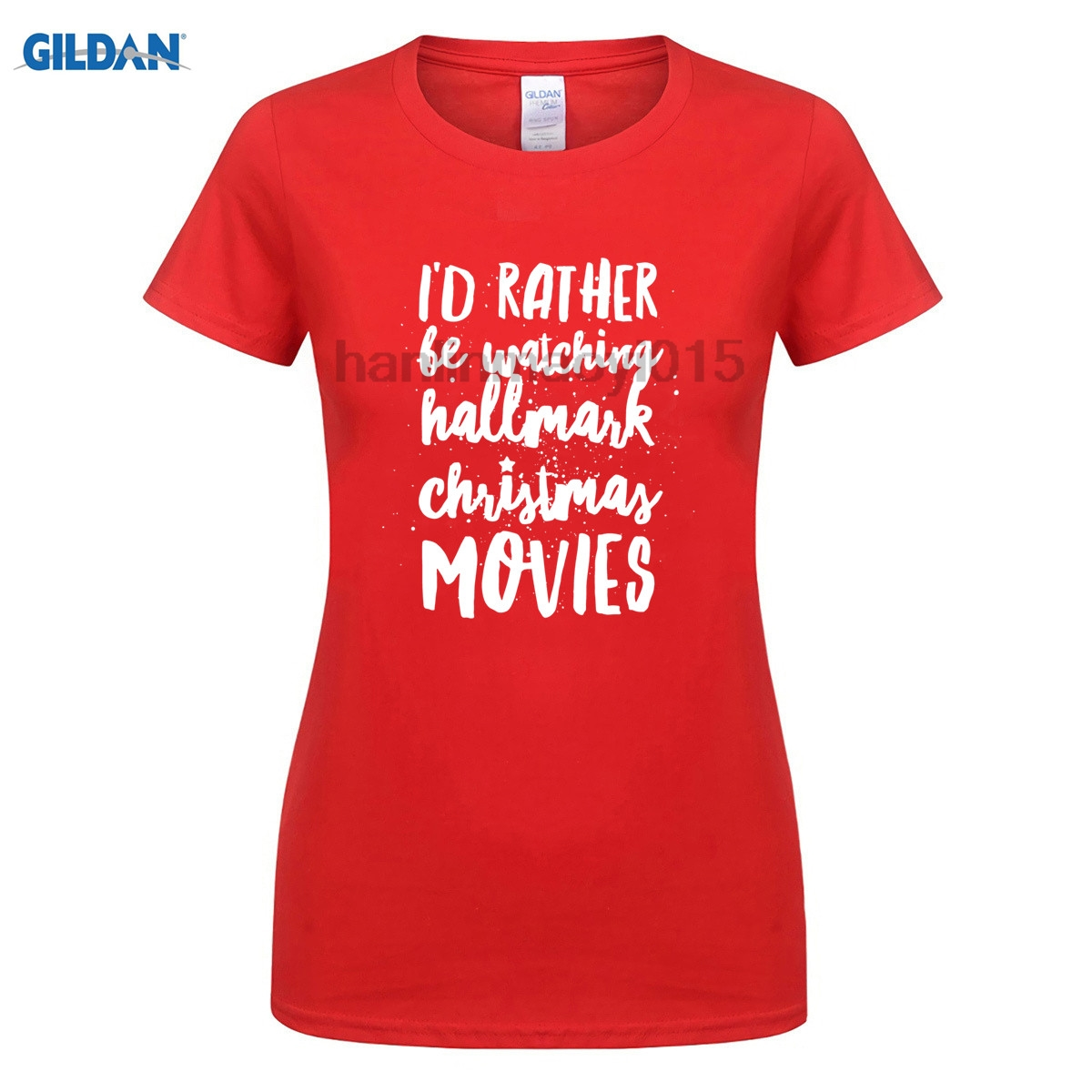 GILDAN 100% cotton O-neck printed T-shirt Hallmark Christmas Movies T-Shirt for women