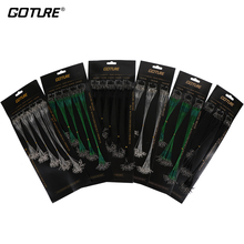 Goture 60/100pcs Fishing Line Trace Silver Stainless Steel Leader Wire Swivel+Interlock Snap Fishing Leash 16/18/22/24/28cm