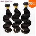 Бразильские волосы девственницы объемная волна бразильских волос ткать пучки 3 шт. лот wonder красоты волос бразильского виргинские человеческих волос weave 100 г
