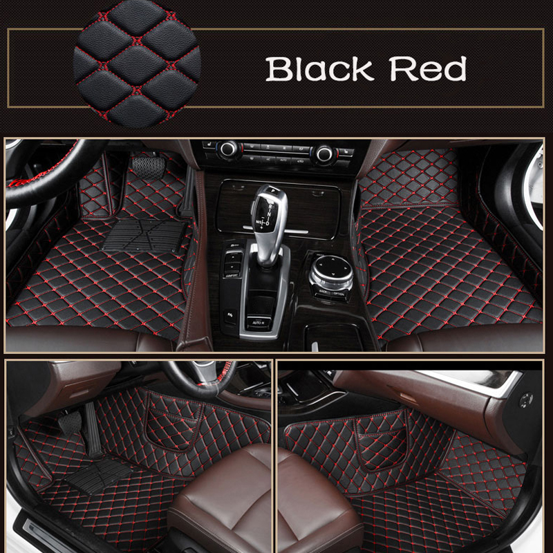 Car Floor Mats Rugs Auto Rug Covers Auto Pads Interior Mats Accessories Car Mats For VW Tiguan MK2 Car Styling Custom Leather