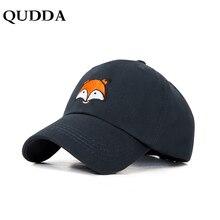 3af315f48f5 QUDDA New Fox Pattern Embroidered Baseball Cap For Women Men Fashion  Cartoon Dad Hat Hip Hop