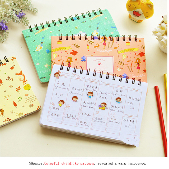 Aliexpress.Com : Buy Korean Planner Spiral Journal Scheduler