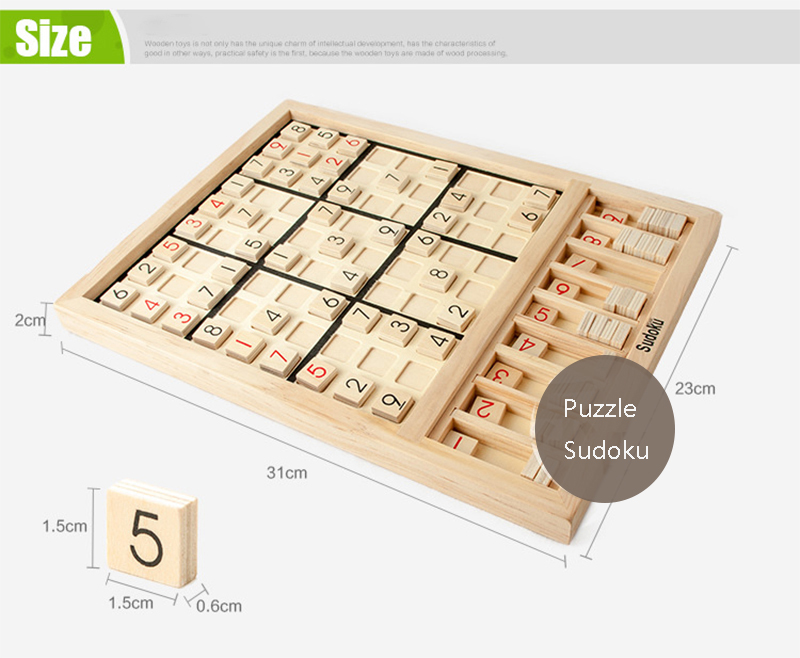 New Sudoku Cube Wooden Number Math Game Sticks Puzzle Sudoku For ...