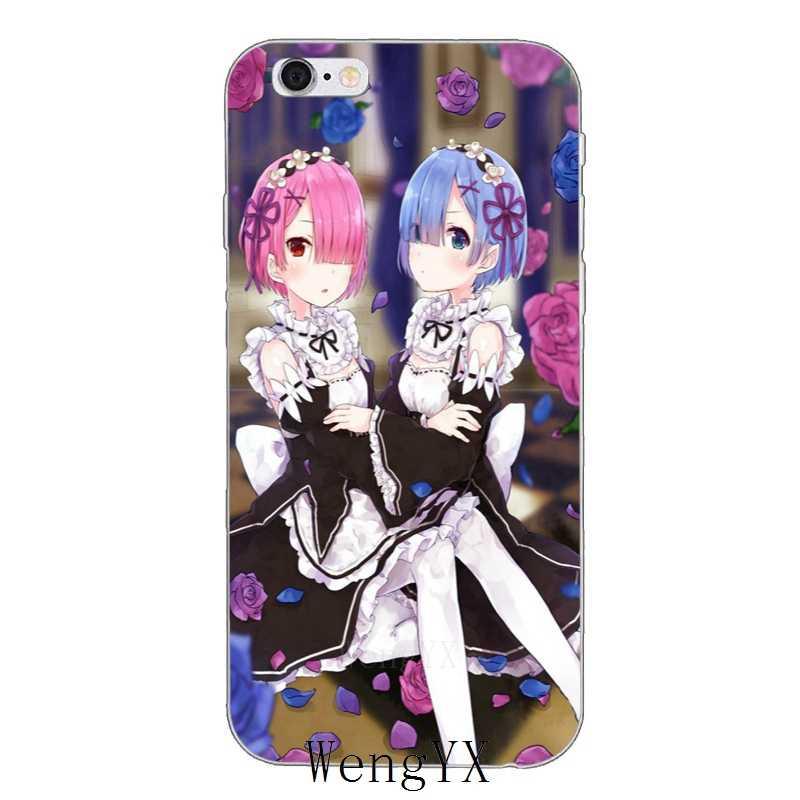 Сексуальная аниме-девушка рам и рем re zero тонкий мягкий силиконовый чехол для телефона для Iphone 4 4s 5 5S 5c SE 6 6s plus, 7, 7 plus, 8, 8 plus, X