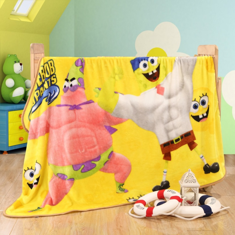 Excellent Children Soft Blanket Baby Kids Blankets Yellow Spongebob Gmtry Best Dining Table And Chair Ideas Images Gmtryco