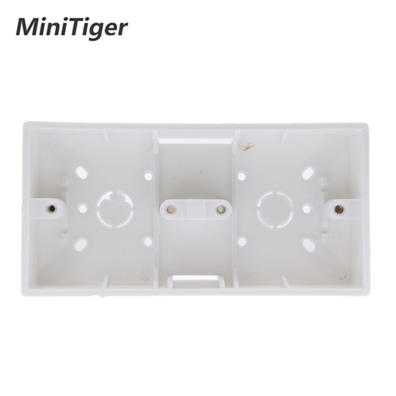 Minitiger External Mount Box 172mm*86mm*33mm For 86 Type Double Touch Switches Or Sockets Apply For Any Position Of Wall Surface