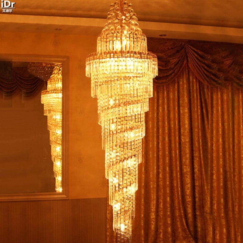 Penthouse grīdas viesistabas kristāla lukturu villas kāpnes Mājas - Iekštelpu apgaismojums - Foto 3