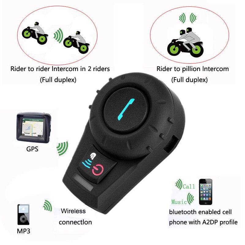 2PCS Freedconn FDC-01VB Bluetooth Motorcykel Interphone med FM Fuld - Motorcykel tilbehør og dele - Foto 4