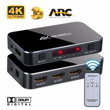 4K HDMI Switch Audio Extractor 3×1 4×1 5×1 1.4 HDMI Switch 2.0 HDMI Switch Box With ARC Toslink SPDIF For PS3 PS4 Apple TV HDTV