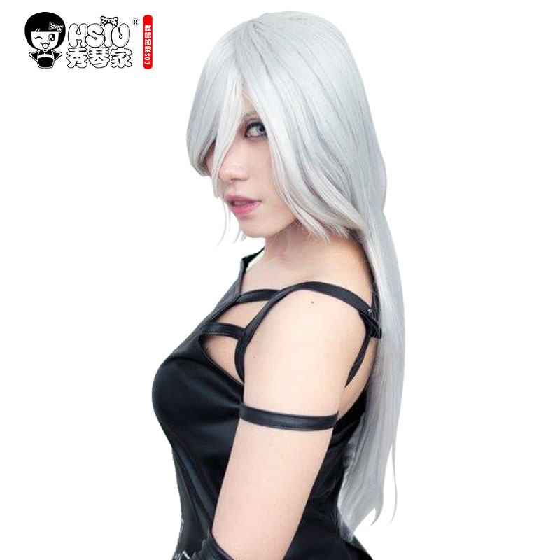 HSIU NEW High Quality YoRHa No.2 Type A Wig Cosplay Wig NieR:Automata A2 Costume Play Wigs Costumes Hair