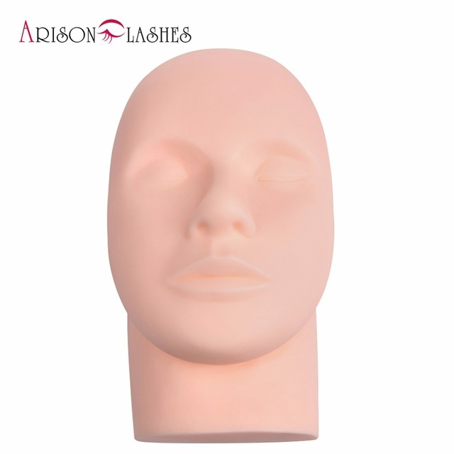 Arison Lashes Professional Mannequin Training Head For Eyelash Extention And Makeup Salon Practice Free Shipping цена 2017