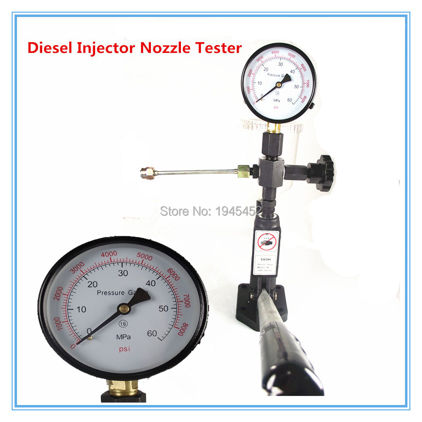 S60H Common rail diesel Injector nozzle validator fuel nozzle Injector tester good quality,Manual diesel booster pump
