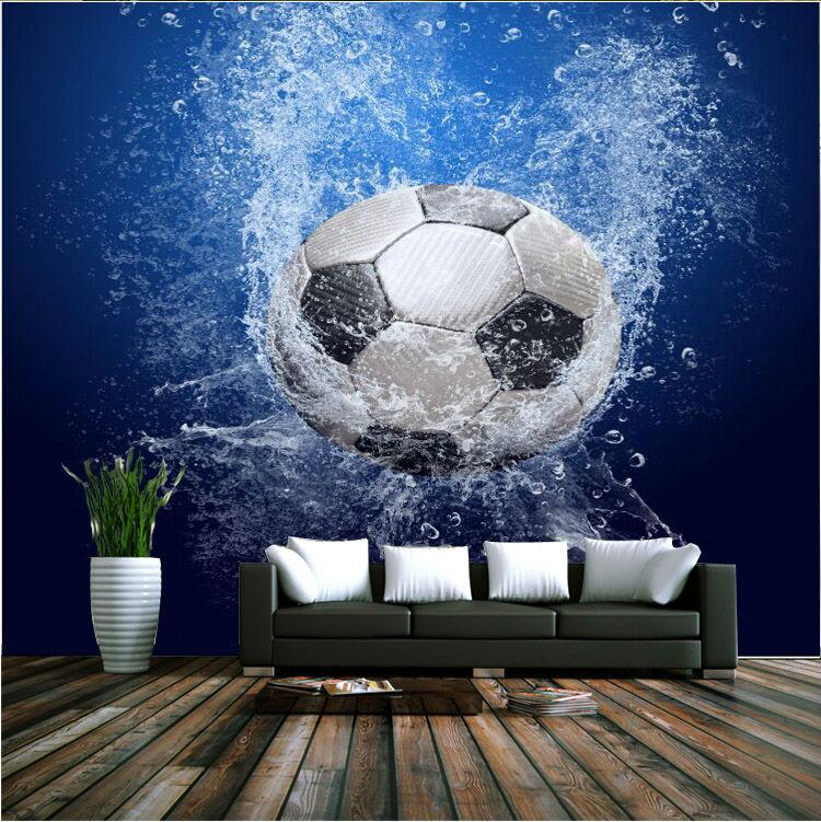 Modern 3D Wallpaper Football Photo Wallpaper Wall Mural