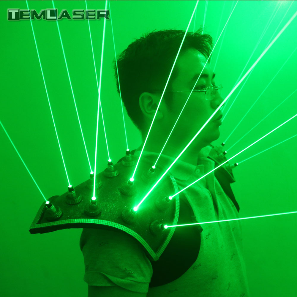 Nyankommen Green Laser Suit, LED Vest, Ljusstark Väst 532nm Green Laser Gloves Glasögon För Lasershow