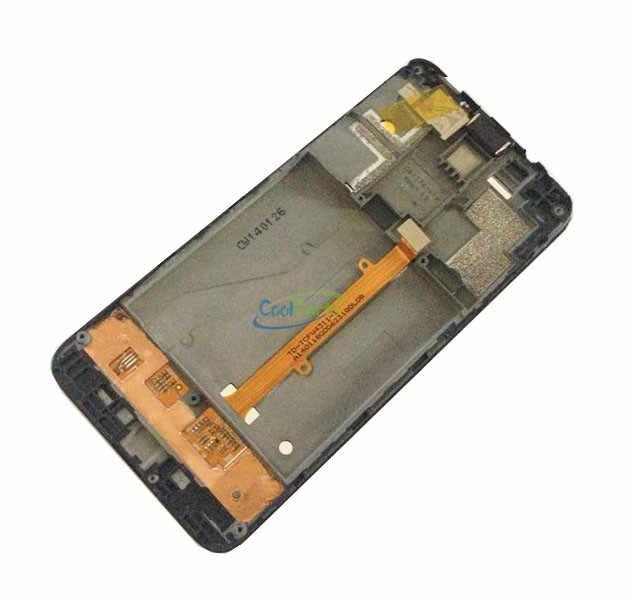 1 шт./лот для Alcatel One Touch Idol mini 6012 6012A 6012D 6012 Вт 6012X OT6012 ЖК-дисплей + сенсорный экран дигитайзер + рамка + инструмент и лента
