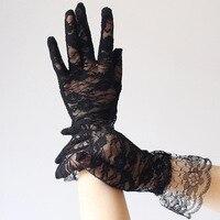 new Fashion Lady Gloves Women Over Wrist Glove Girls Full Finger Mittens for Party Bride Gloves 4KYT3