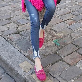 Dziewiąty otwór jeansy ciążowe spodnie dla kobiet w ciąży ubrania wiosna Skinny Denim jeansy ze streczem spodnie ciążowe Gravidas odzież tanie i dobre opinie Macierzyństwo WOMEN Elastyczny pas XEIOBB spandex COTTON light Natural color