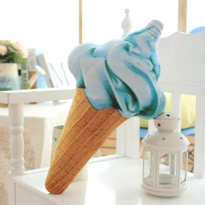 Image 3 - CAMMITEVER Creative 3D Ice Cream Shape Cushion Doll Plush Toy Pillow Bed Seat Use Home Decor Gift