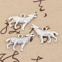 6pcs Charms howling wolf 26x20mm Antique Making pendant fit,Vintage Tibetan Silver Bronze,DIY Handmade Jewelry(China)