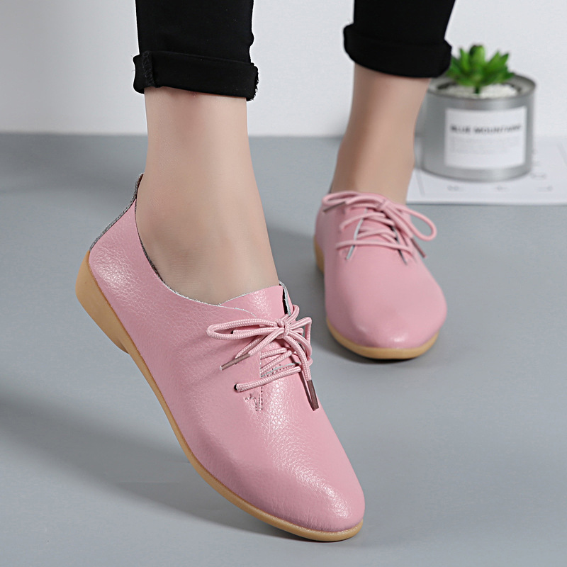 wine Mujer Zapatos Mocassins Femmes Sapato Femme yellow Red De orange Plate Mode Cuir En Dame moonlight Chaussures forme coffee Élégant Plat beige pink Casual Feminino Blue dark White Solide Brown black Split light xwOqIxpY