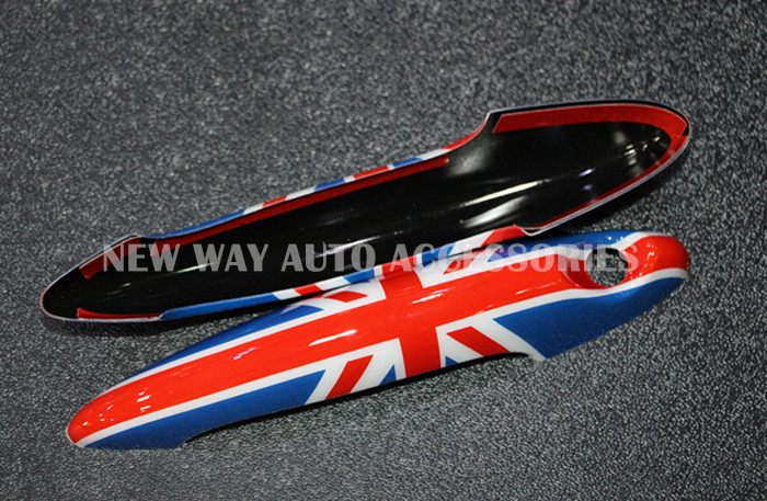 2pcs/lot Car styling MINI COOPER Countryman Union jack Door Handle Sticker/Protect Door Knob cover/car sticker accessories aliauto car styling car side door sticker and decals accessories for mini cooper countryman r50 r52 r53 r58 r56