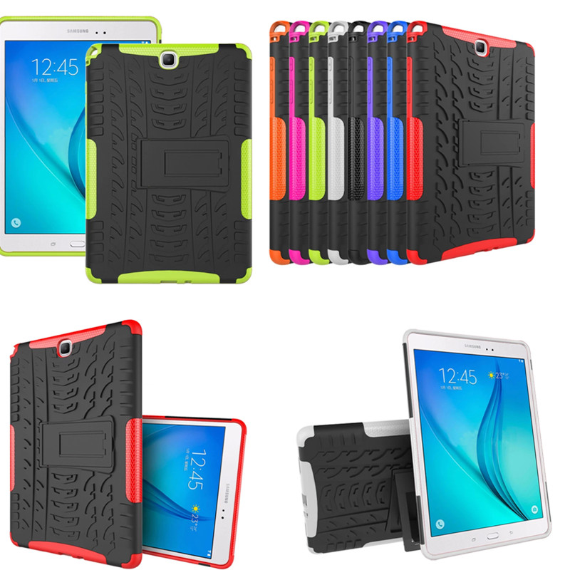 HH Hybrid Rugged Combo Heavy Duty Hard <font><b>Cover</b></font> <font><b>Case</b></font> for <font><b>Samsung</b></font> <font><b>Galaxy</b></font> <font><b>Tab</b></font> A 9.7 <font><b>SM</b></font> T555 <font><b>T550</b></font> P550 P555 P555C Stand Tablet PC <font><b>Case</b></font> image
